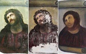 Botched Fresco restoration