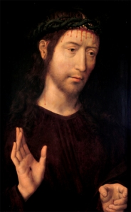 """Man of Sorrows, Hans Memling (ca. 1430-1494)"